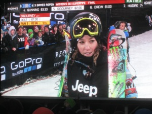 Brita Sigourney's third run left her just off the podium.